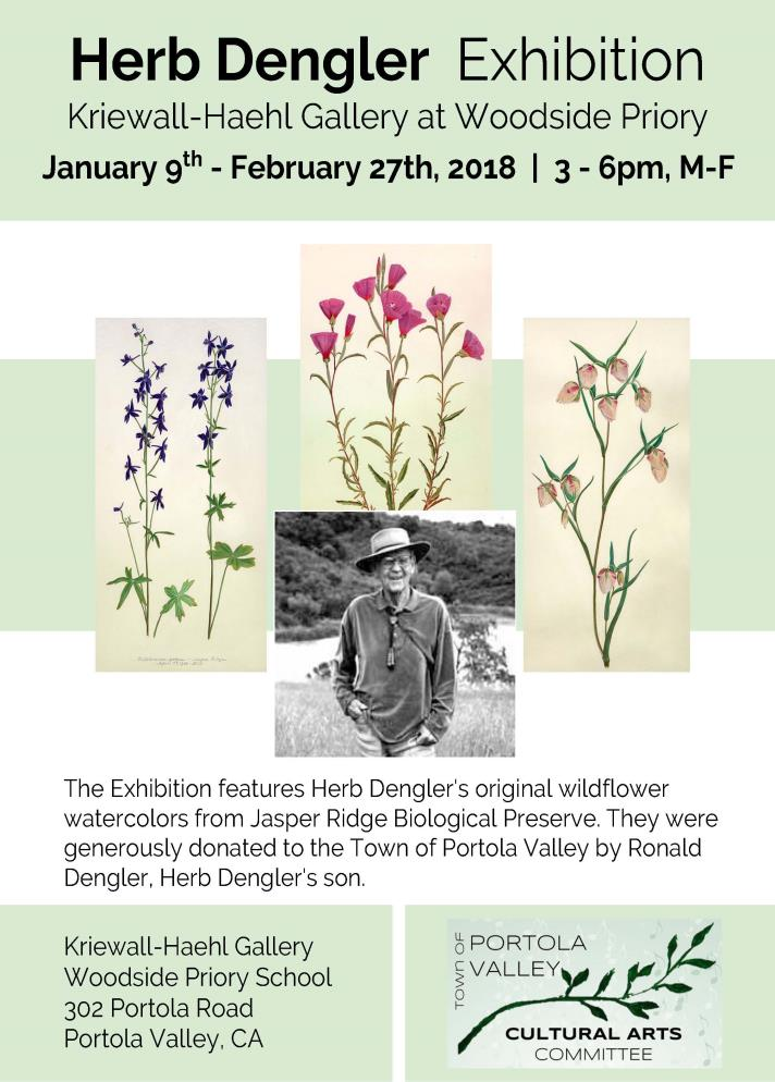 Herb Dengler Art Exhibition January 9, 2018 to February 27, 2018