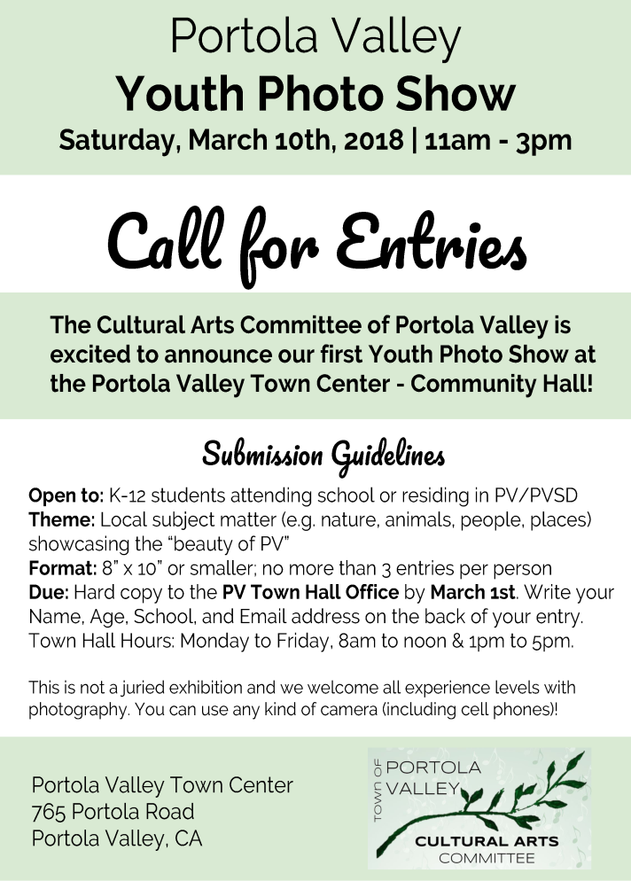 Portola Valley Youth Photo Show