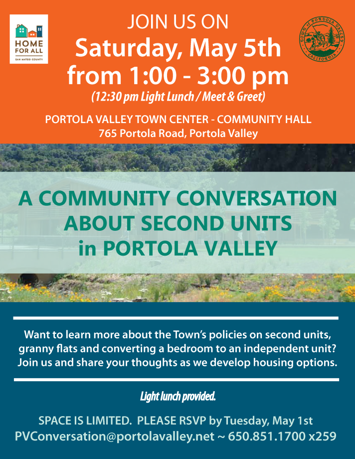 Home for All Flyer - Community Conversation Event on May 5, 2018 from 1 -3 pm