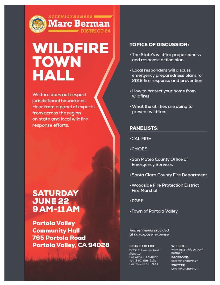 Wildfire Town Hall Flyer PDF