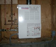 Tankless Water Heater - wall-mounted